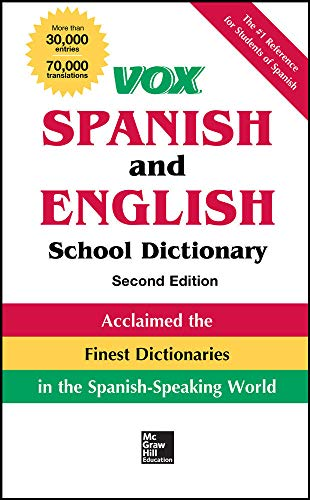 9780071816656: VOX Spanish and English School Dictionary, Hardcover, 2nd Edition (Vox Dictionaries)