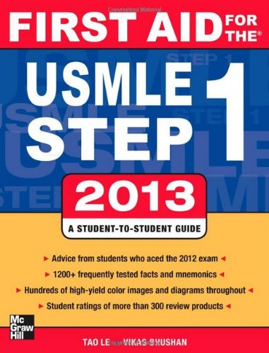 9780071816663: First Aid for the USMLE Step 1 2013