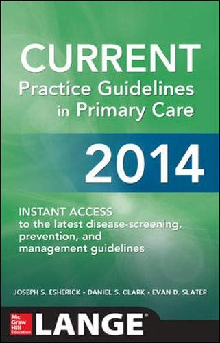 9780071818247: CURRENT Practice Guidelines in Primary Care 2014 (Lange Medical Books)
