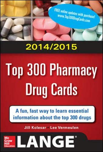 9780071818438: 2014-2015 Top 300 Pharmacy Drug Cards