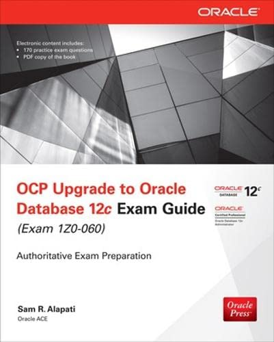 9780071819978: OCP Upgrade to Oracle Database 12c Exam Guide (Exam 1Z0-060) (Oracle Press)