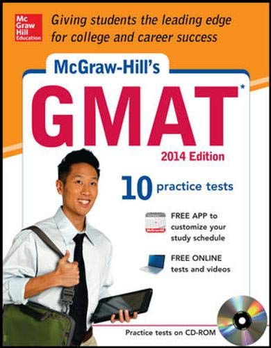 9780071821438: McGraw-Hill's GMAT with CD-ROM, 2014 Edition (McGraw-Hill's GMAT (W/CD))