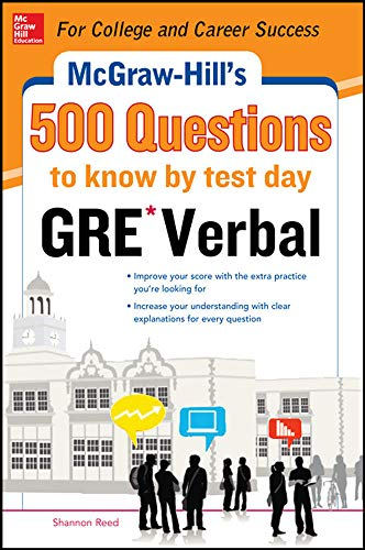 9780071821599: McGraw-Hill Education 500 GRE Verbal Questions to Know by Test Day