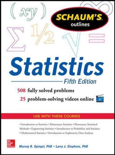 9780071822527: Schaum's Outline of Statistics, 5th Edition (Schaum's Outline Series)