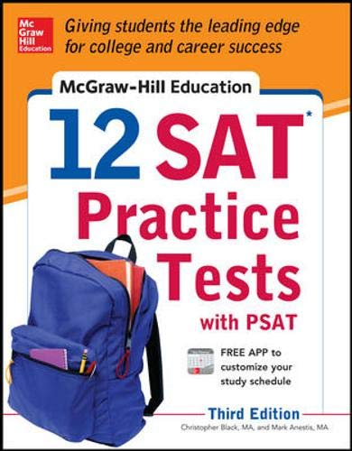 9780071822916: McGraw-Hill Education 12 SAT Practice Tests with PSAT, 3rd Edition