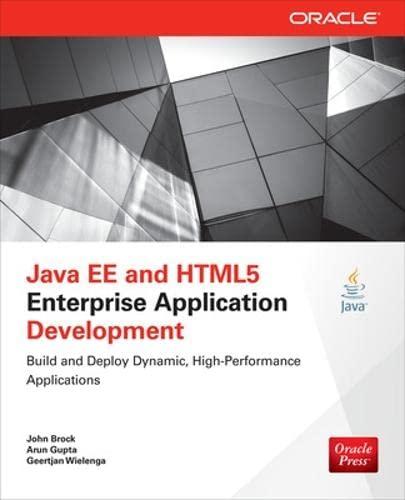 9780071823098: Java EE and HTML5 Enterprise Application Development (Oracle Press)