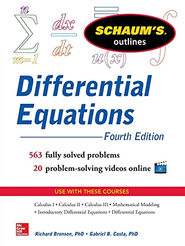9780071824859: Schaum's Outline of Differential Equations, 4th Edition (Schaum's Outline Series)