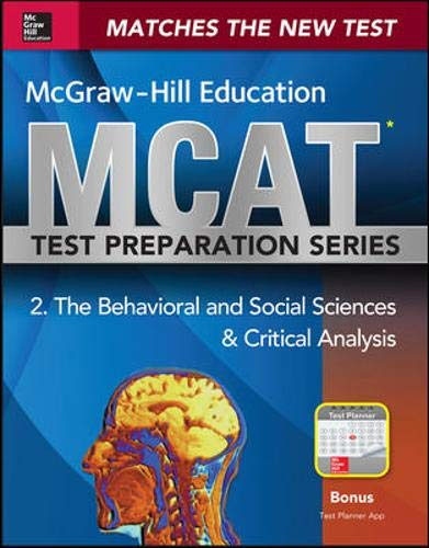 9780071825610: McGraw-Hill Education MCAT Behavioral and Social Sciences & Critical Analysis 2015, Cross-Platform Edition: Psychology, Sociology, and Critical Analysis Review