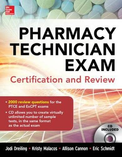 9780071826891: Pharmacy Technician Exam Certification and Review