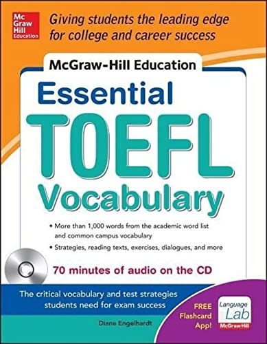 9780071827102: McGraw-Hill Education Essential Vocabulary for the TOEFL� Test with Audio Disk