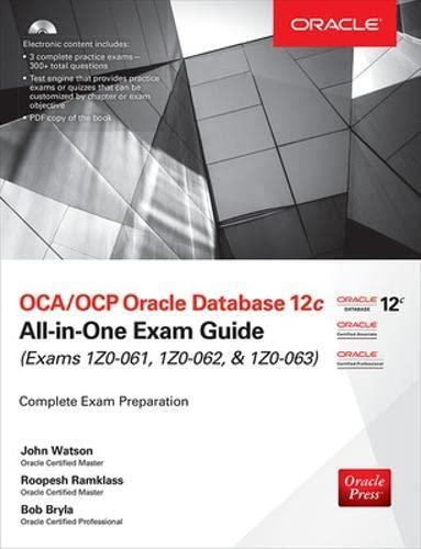 9780071828086: OCA/OCP Oracle Database 12c all-in-one exam guide (Exams 1Z0-061, 1Z0-062, & 1Z0-063). Con CD-ROM (Ingegneria)
