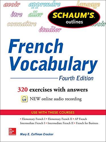 9780071828383: Schaum's Outline of French Vocabulary (Schaum's Outlines)