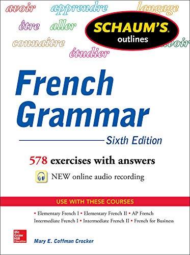 9780071828987: Schaum's Outline of French Grammar (Schaum's Foreign Language Series)