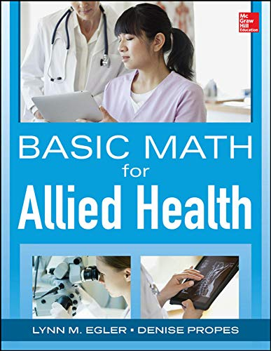 9780071829076: Basic Math for Nursing and Allied Health (A & L Allied Health)