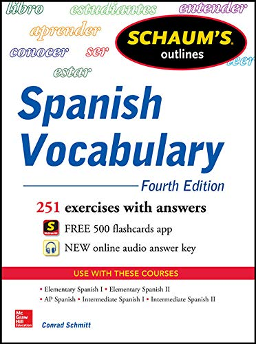 9780071830294: Schaum's Outline of Spanish Vocabulary, 4th Edition