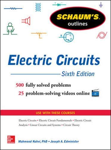 9780071830454: Schaum's Outline of Electric Circuits, 6th edition (Schaum's Outline Series)