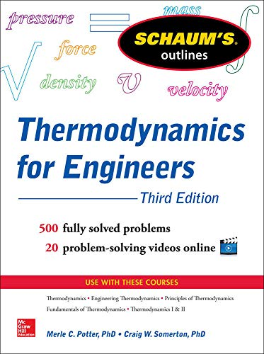 9780071830829: Schaum's Outline of Thermodynamics for Engineers, 3rd Edition