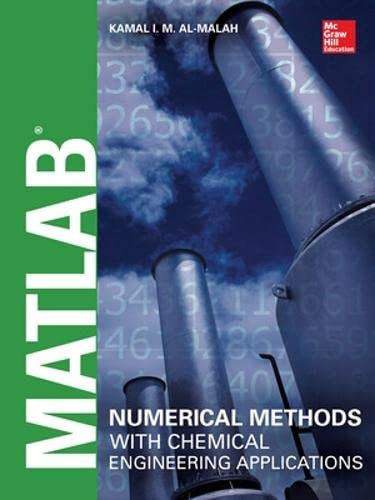 MATLAB Numerical Methods with Chemical Engineering Applications: Al-Malah, Kamal I.M.