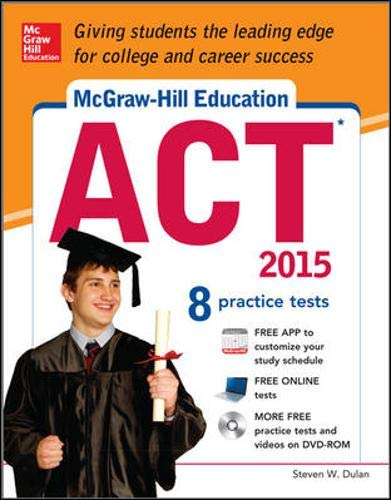 9780071831871: McGraw-Hill Education ACT with DVD-ROM, 2015 Edition