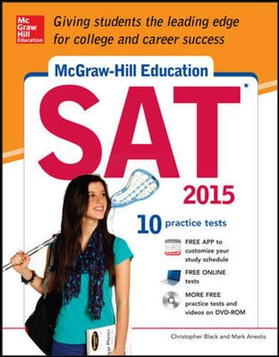 9780071831963: McGraw-Hill Education SAT with DVD-ROM, 2015 Edition