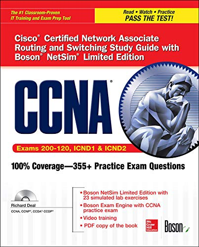 9780071832083: CCNA Cisco Certified Network Associate Routing and Switching Study Guide (Exams 200-120, ICND1, & ICND2), with Boson NetSim Limited Edition (Certification Press)