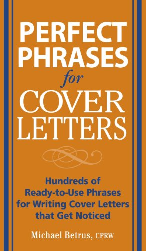 9780071832267: Perfect Phrases for Cover Letters
