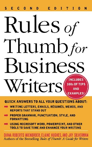 9780071832700: Rules of Thumb for Business Writers