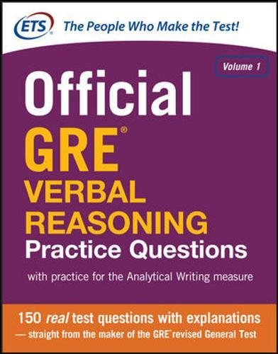 9780071834292: Official GRE Verbal Reasoning Practice Questions: 1 (Test Prep)