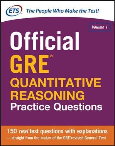 9780071834322: Official GRE Quantitative Reasoning Practice Questions: 1