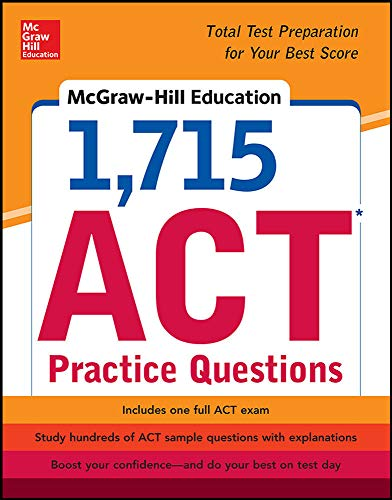 9780071835053: McGraw-Hill Education 1,715 ACT Practice Questions
