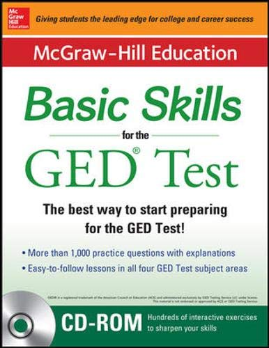 McGraw-Hill Education Basic Skills for the GED Test with DVD (Book + DVD Set)