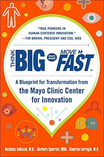 9780071838665: Think Big, Start Small, Move Fast: A Blueprint for Transformation from the Mayo Clinic Center for Innovation (Business Books)