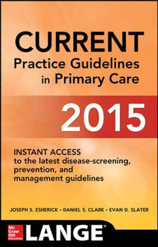 9780071838894: CURRENT Practice Guidelines in Primary Care 2015