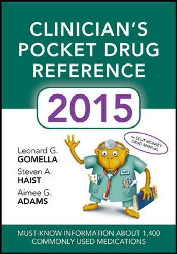 9780071840002: Clinicians Pocket Drug Reference 2015 (Pocket Reference)