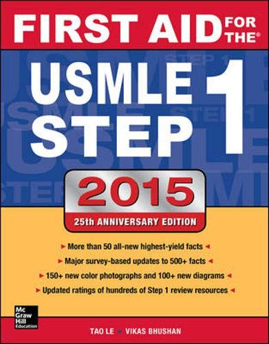 9780071840064: First Aid for the USMLE Step 1 2015 (First Aid USMLE)