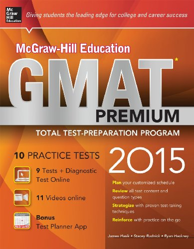 9780071840217: McGraw-Hill Education GMAT Premium, 2015 Edition