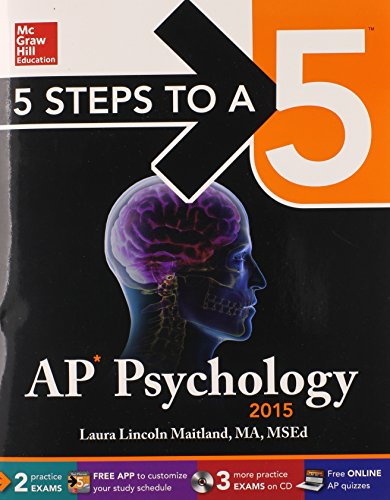 9780071840323: 5 Steps to a 5 AP Psychology with CD-ROM, 2015 Edition (5 Steps to a 5 on the Advanced Placement Examinations Series)