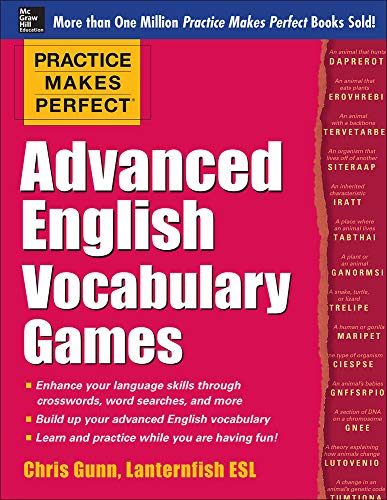 9780071841146: Practice Makes Perfect Advanced English Vocabulary Games
