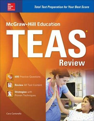 9780071841207: McGraw-Hill Education Teas Review 2016