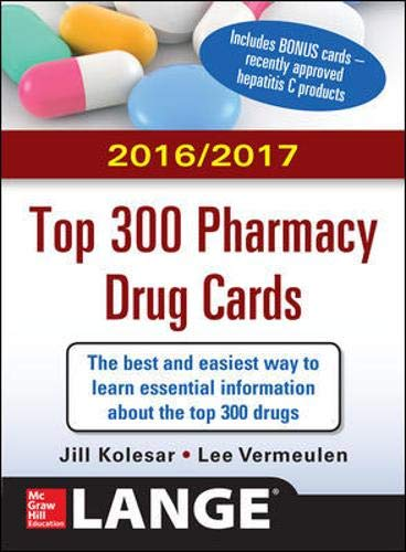 9780071842334: McGraw-Hill's 2016/2017 Top 300 Pharmacy Drug Cards