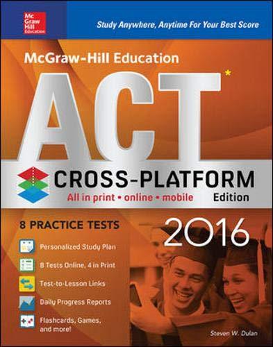 9780071842464: McGraw-Hill Education ACT 2016, Cross-Platform Edition