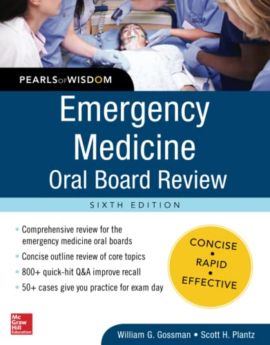 9780071843621: Emergency Medicine Oral Board Review: Pearls of Wisdom, Sixth Edition
