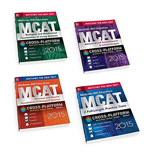 9780071843980: McGraw-Hill Education MCAT 2015 4-Book Value Pack, Cross-Platform Edition (Mcgraw-Hill Education Mcat Preparation)