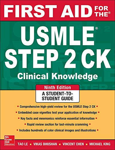 9780071844574: First aid for the USMLE steps ck (A & L Review)