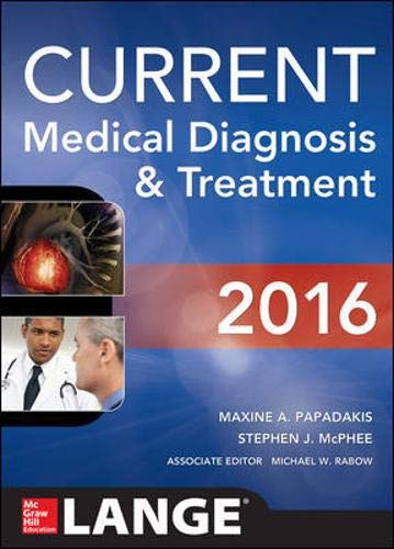 9780071845090: Current Medical Diagnosis and Treatment 2016 (Lange Current)