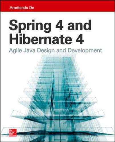 9780071845113: Spring 4 and Hibernate 4: Agile Java Design and Development