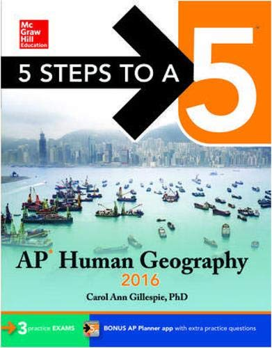 9780071846202: 5 Steps to a 5 AP Human Geography 2016