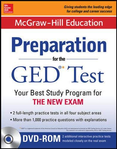 9780071846615: McGraw-Hill Education Preparation for the GED� Test with DVD-ROM