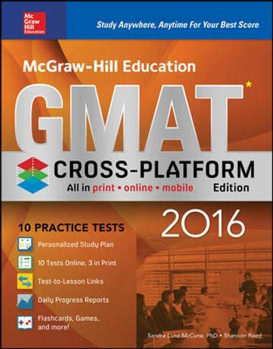 9780071846837: McGraw-Hill Education GMAT 2016, Cross-Platform Edition