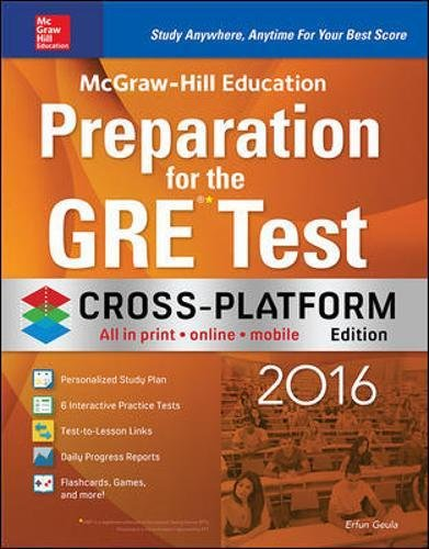 9780071846950: McGraw-Hill Education Preparation for the GRE Test 2016, Cross-Platform Edition